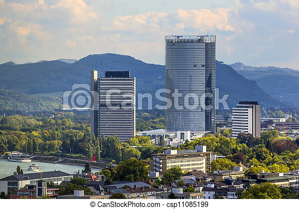 aerial of Bonn, the former capital of Germany - csp11085199