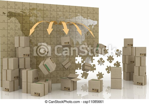 conception of world trade. 3d concept of logistic. - csp11085661