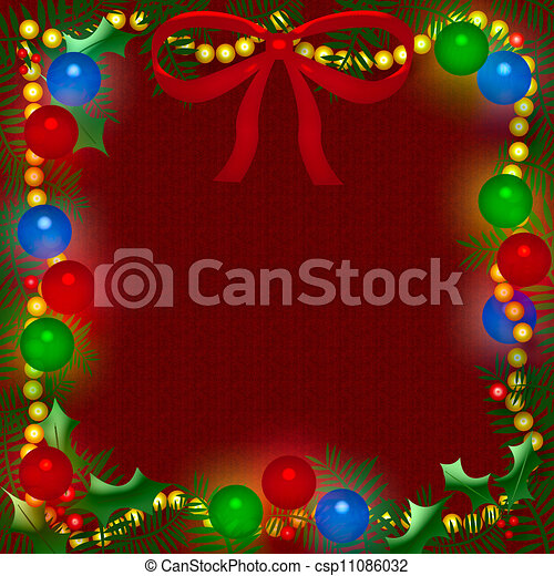 Christmas light frame - csp11086032