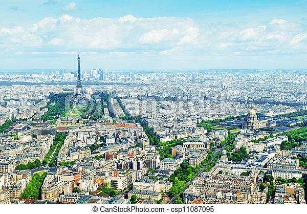 Aerial view of Paris - csp11087095