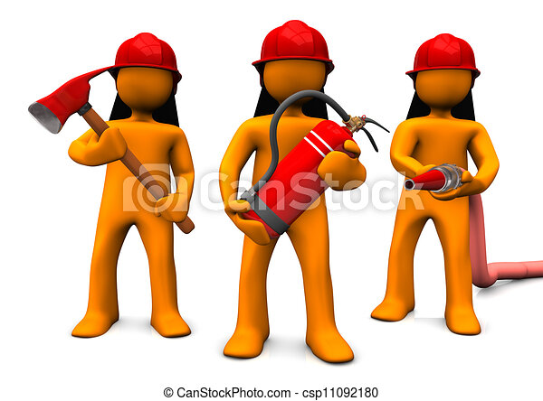 Stock Illustration of Fire Brigade - The fire brigade with ...
