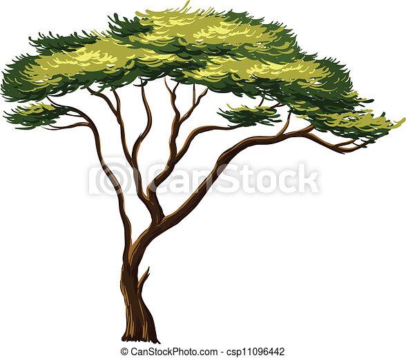 Vecteur eps de arbre africaine illustration de une africaine arbre csp11096442 - Arbre africain en 7 lettres ...