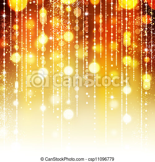 Golden Abstract Holiday background - csp11096779