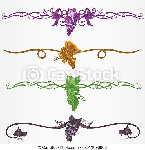 Vector clip art de hojas uvas uvas regla l neas con - Paginas web de decoracion ...