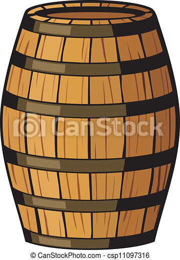 Vector Clip Art Of Old Barrel Wooden Barrel Csp11097316