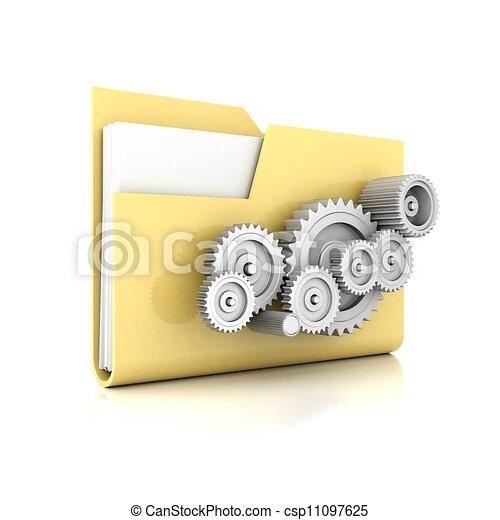 Yellow folder - csp11097625
