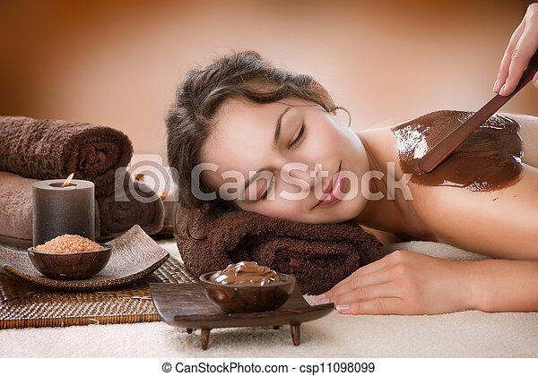 Spa Chocolate Mask. Luxury Spa Treatment  - csp11098099