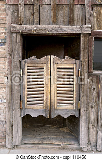 Western Swinging Doors - csp1110456
