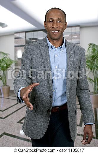 Black Man Shaking Hands - csp11105817