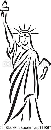 estatua, libertad - csp11106739