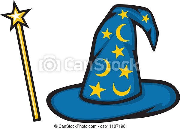 Vecteurs eps de chapeau magicien magie crosse chapeau de les csp11107198 recherchez - Dessin de chapeau de magicien ...