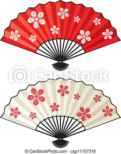 oriental fan - csp11107318