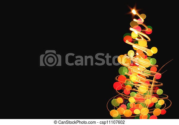 abstract color christmas lights - csp11107602