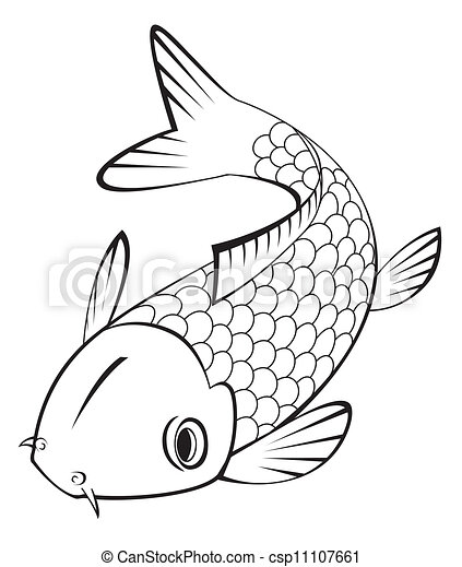Clip Art Vector Of Koi Fish Csp11107661 Search Clipart