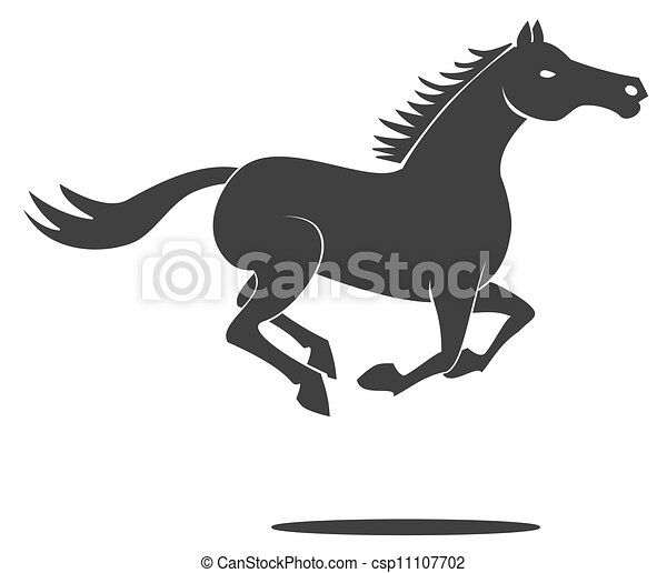 Horse Symbols Drawings Vector Horse Run Symbol