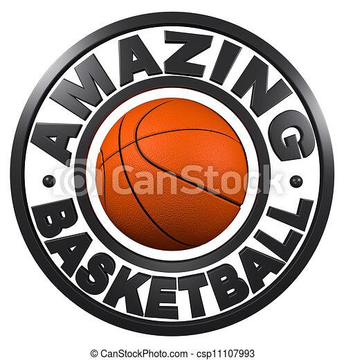 Amazing Basketball circular design - csp11107993