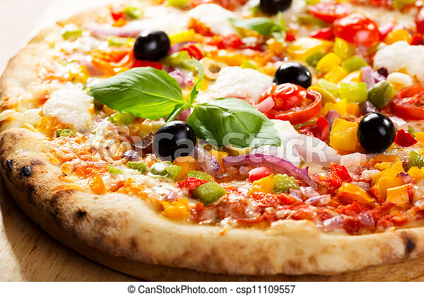 pizza with vegetables  - csp11109557