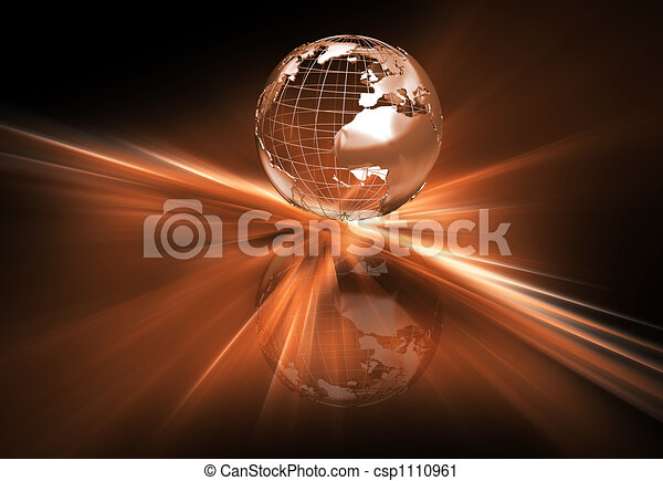 Abstract globe - csp1110961