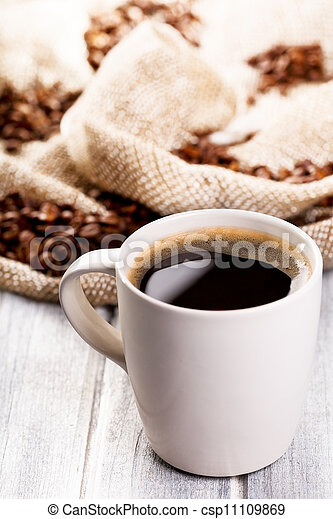 cup of black coffee - csp11109869