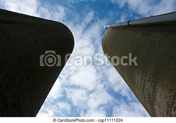 Agriculture farm grain silos - csp11111024