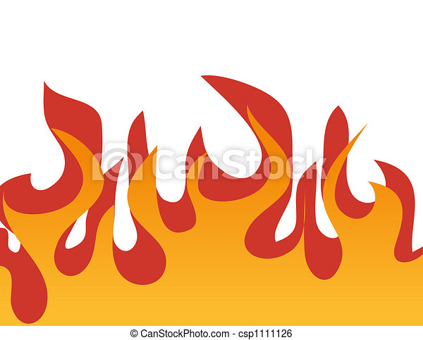 Red burning flame pattern. Vector. - csp1111126