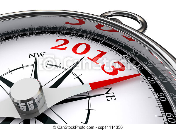 new year 2013 conceptual compass - csp11114356