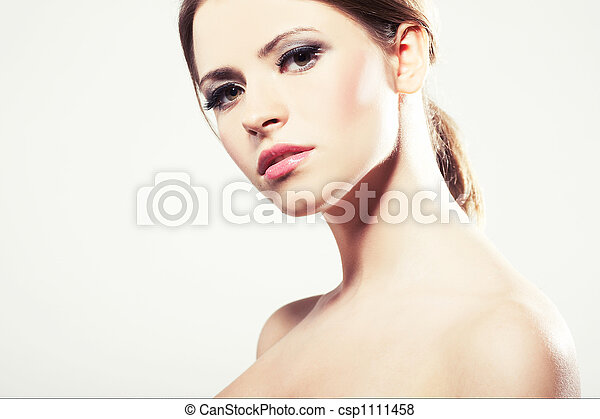 Portrait of a beautiful young sexy woman - csp1111458