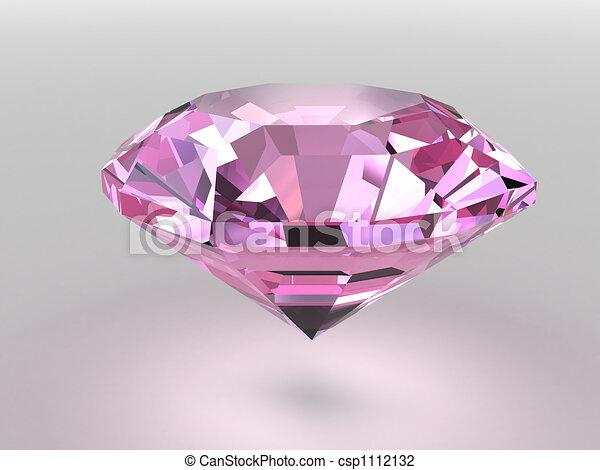 Pink diamond with soft shadows - csp1112132
