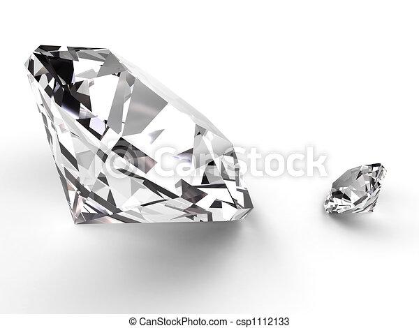 Big and small diamond - csp1112133