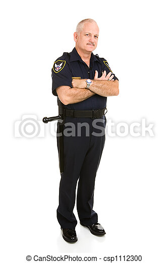 Police Officer Full Body - csp1112300