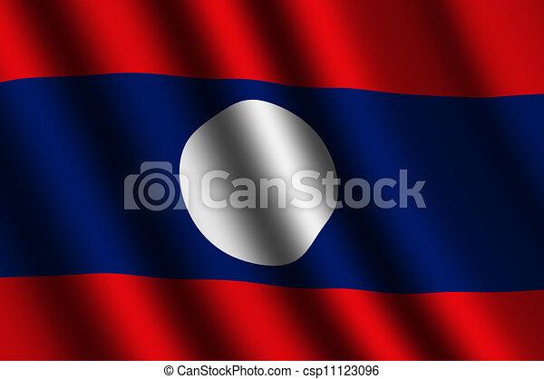 The Laotian flag - csp11123096