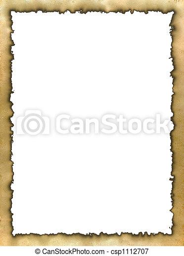 Burned edges frame - csp1112707