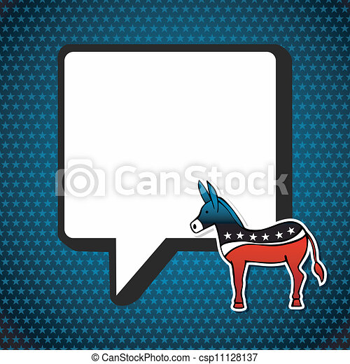 USA elections: Democratic politic message  - csp11128137