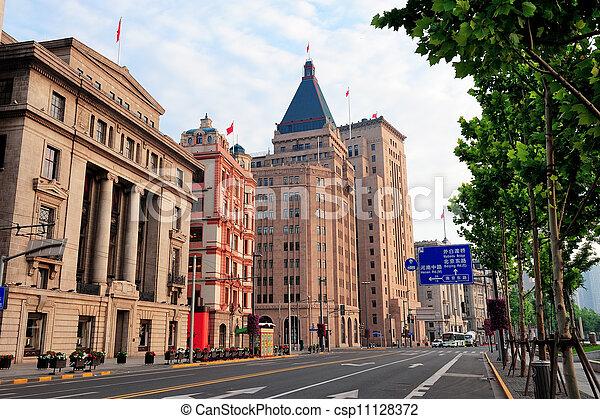 Shanghai historic architecture - csp11128372