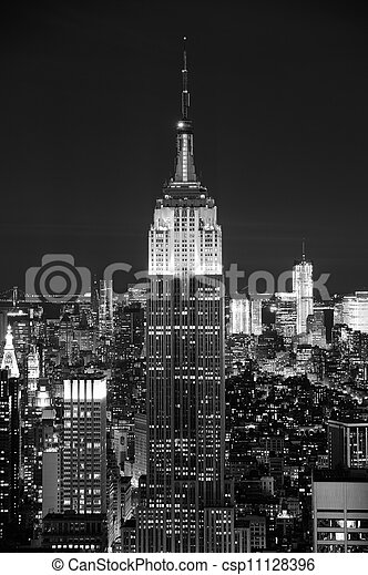 NEW YORK CITY, NY - NOV 19: Empire State Building closeup on November 19, 2011 in New York City. Empire State Building is a 102-story landmark and was world's tallest building for more than 40 years. - csp11128396