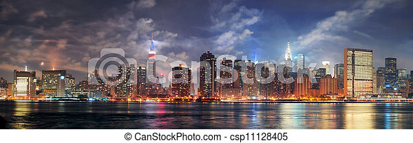 New York City Manhattan midtown at dusk - csp11128405