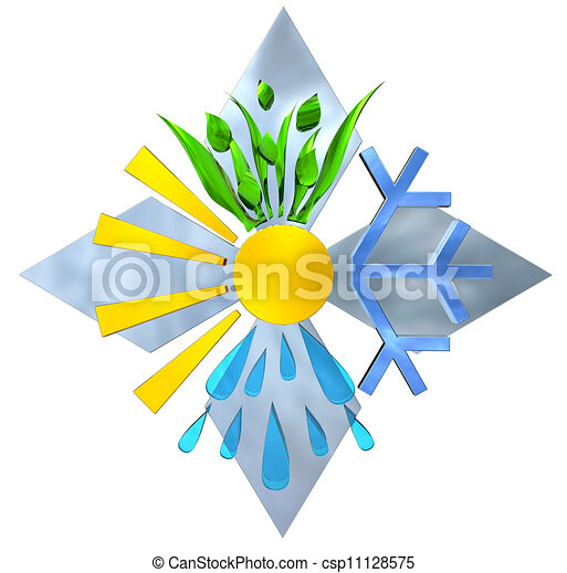 Spring, Summer, Autumn, Winter. Four Seasons - csp11128575