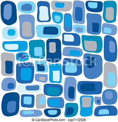 Retro squares in blue - csp1112926