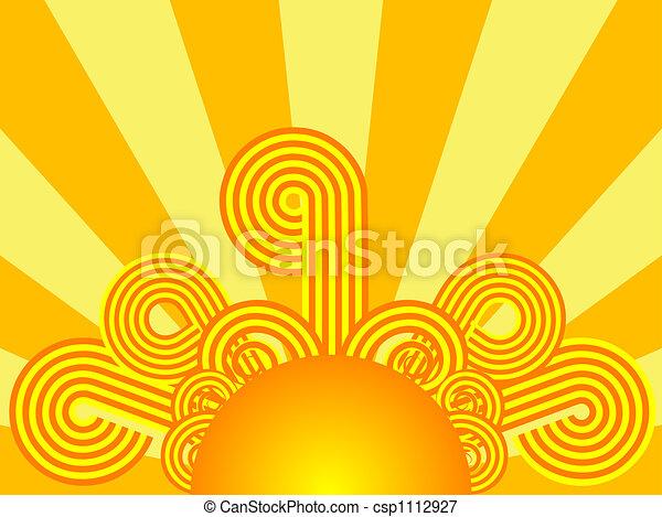 Retro sunrise - csp1112927