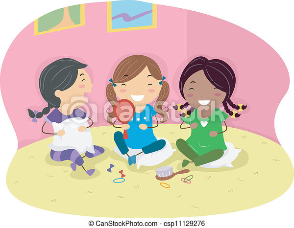 Slumber party Stock Illustration Images. 165 Slumber party ...