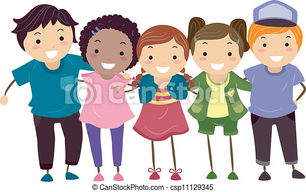 Group Girls Clipart Boy And Girl Group