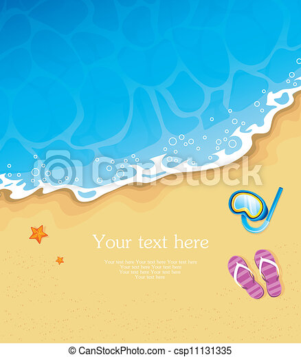 Summer tropical banner - csp11131335