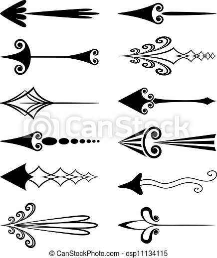 Vector Clip Art Of Vector Set Of Vintage Arrows
