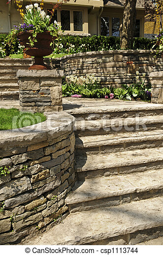Natural stone landscaping - csp1113744