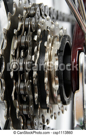 Bicycle gears - csp1113860