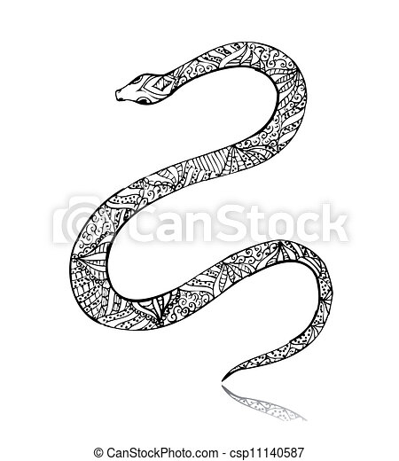 Beautiful vintage art snake - csp11140587