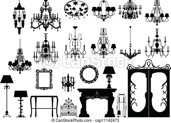 Furniture Line Drawings Vector Furniture And