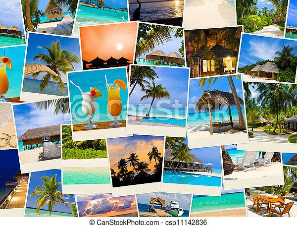 Summer beach maldives images - csp11142836