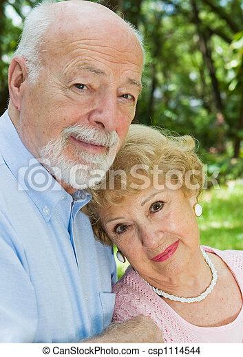 Devoted Senior Couple - csp1114544