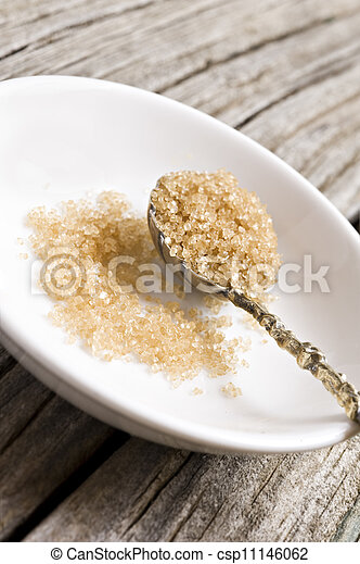 Stock Photo - a Sugar spoon with brown sugar - stock image, images ...